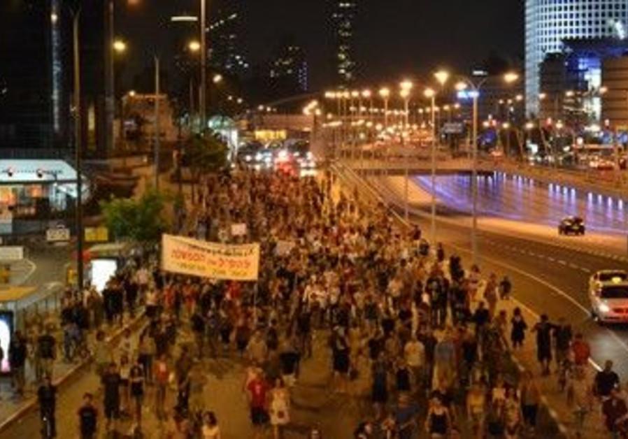TA Social justice protest vigil for Moshe Silman