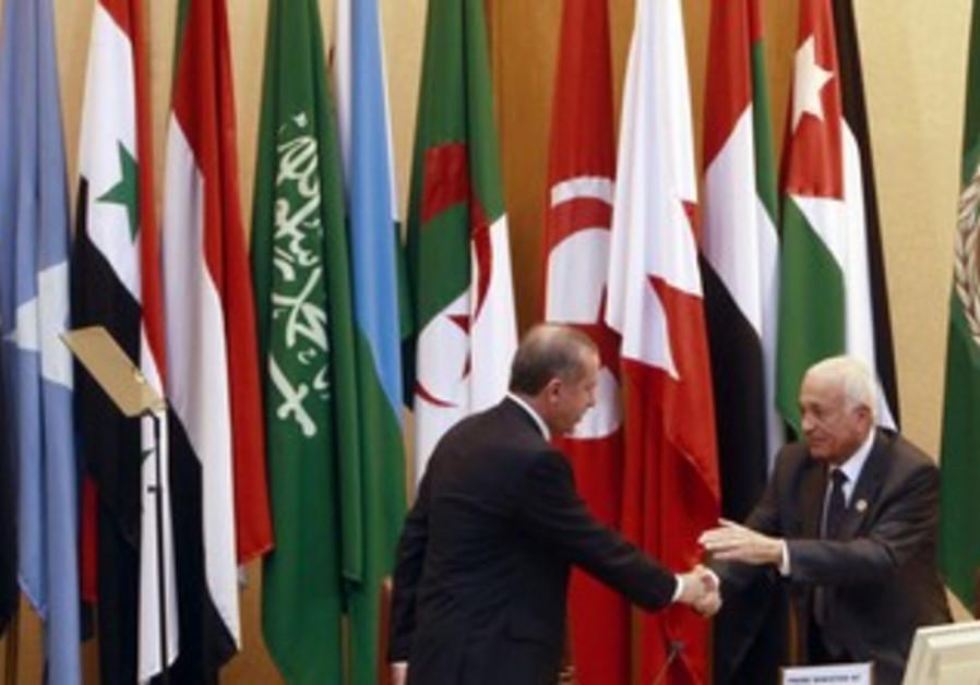 Turkey's Erdogan meets with Arab League's Elaraby