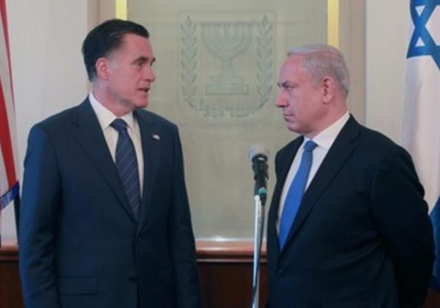 Mitt Romney and Binyamin Netanyahu.