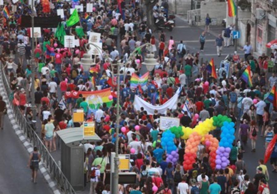 Gay Pride Parade marches across Jerusalem