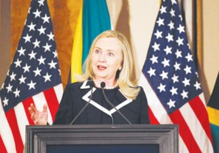 Hillary Clinton in Sandton, South Africa