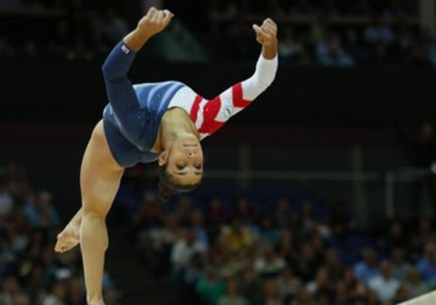 Olympic gold medalist Aly Raisman.