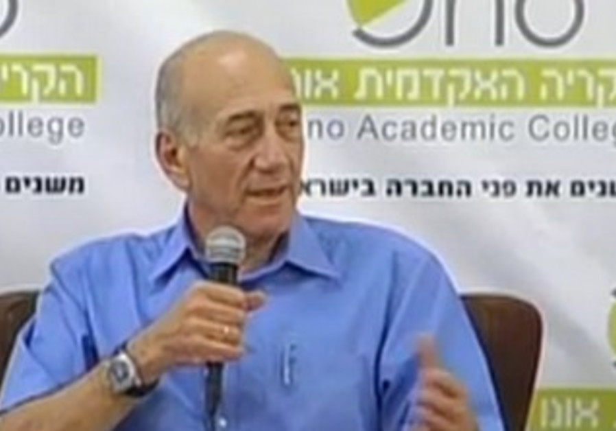 Olmert at Ono Academic College