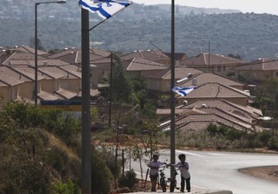 Jewish boys in the West Bank's Bruchin