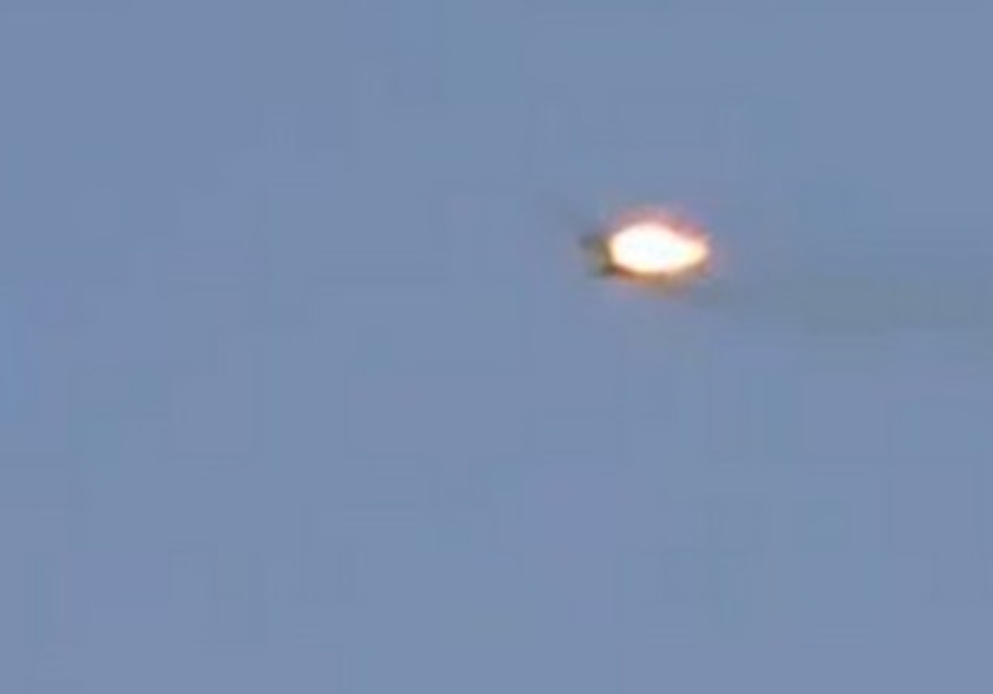 Syrian war plane bursts into flames
