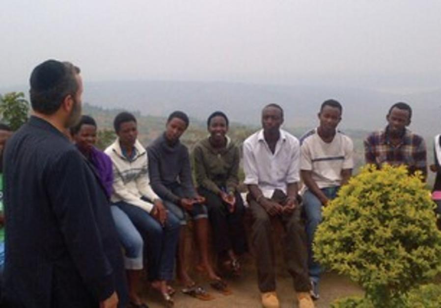 SHMULEY BOTEACH with Rwandan students