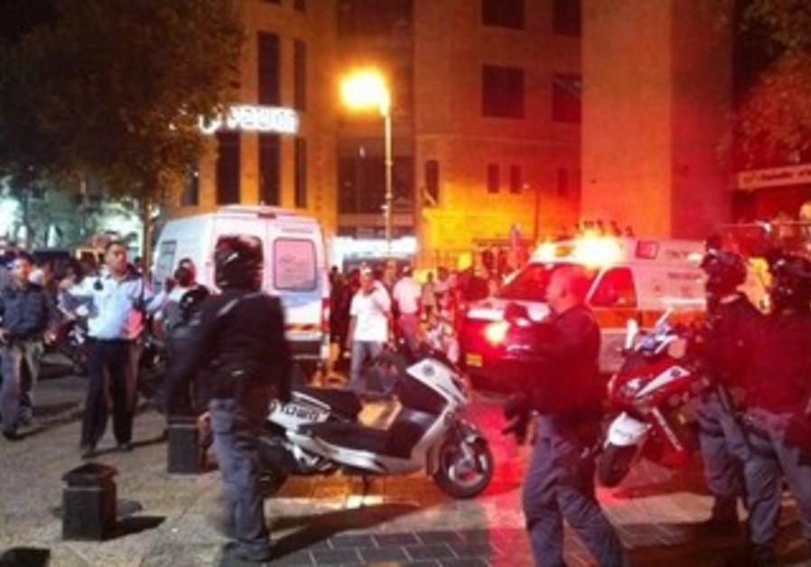 Zion Square, scene of brawl between Arabs, Jews