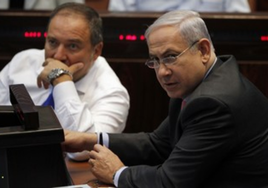 PM Binyamin Netanyahu and FM Avigdor Lieberman
