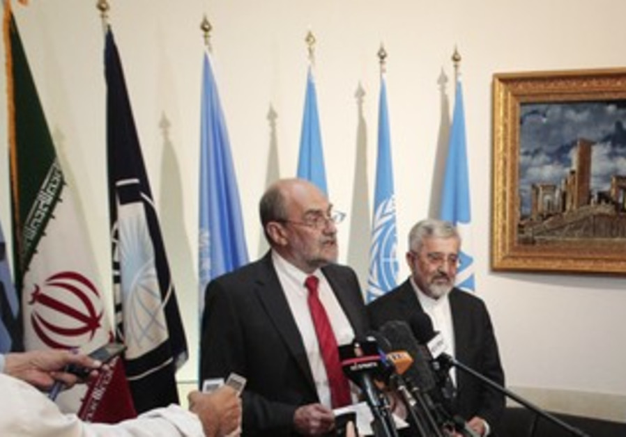 IAEA's Nackaerts with Iran's Soltanieh