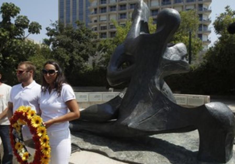 Israeli Olympic delegation at Munich memorial
