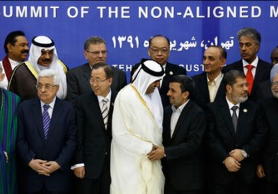 Leaders at NAM summit in Tehran.