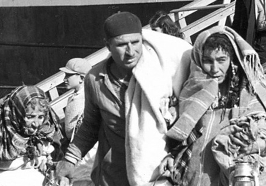 Jewish refugees from Triploi arrive in Haifa.