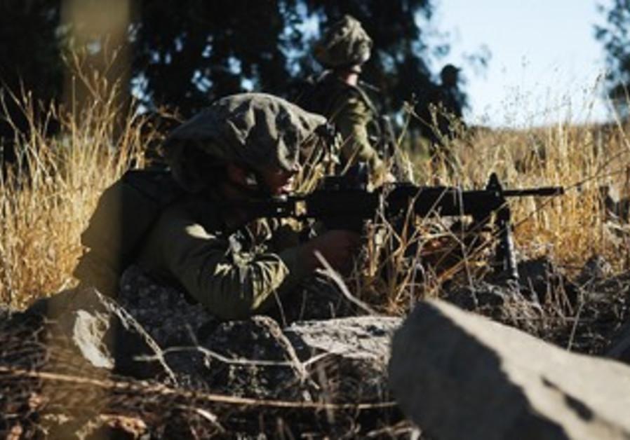 A GOLANI infantryman during an exercise