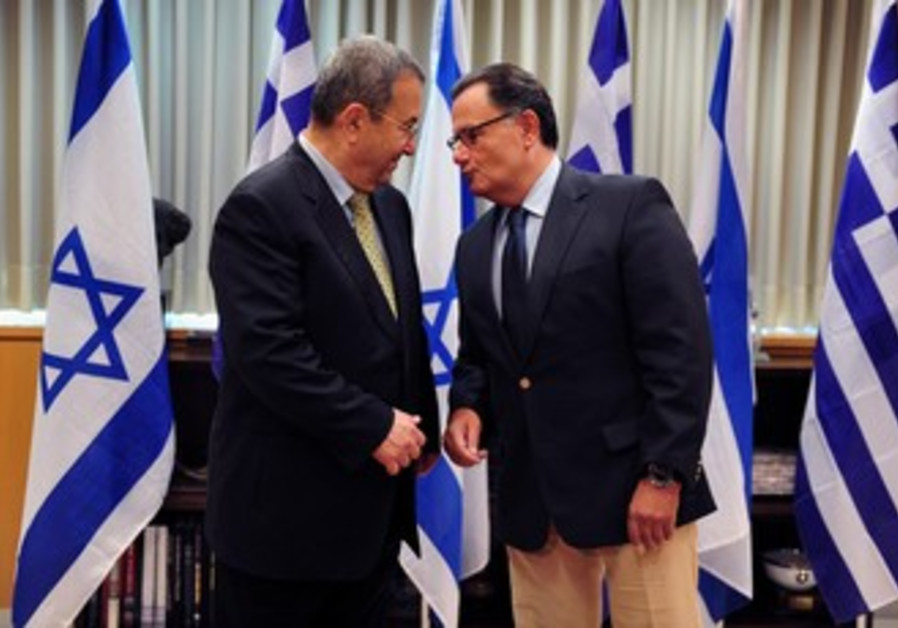 Greek DM Panos Panagiotopoulos with Barak