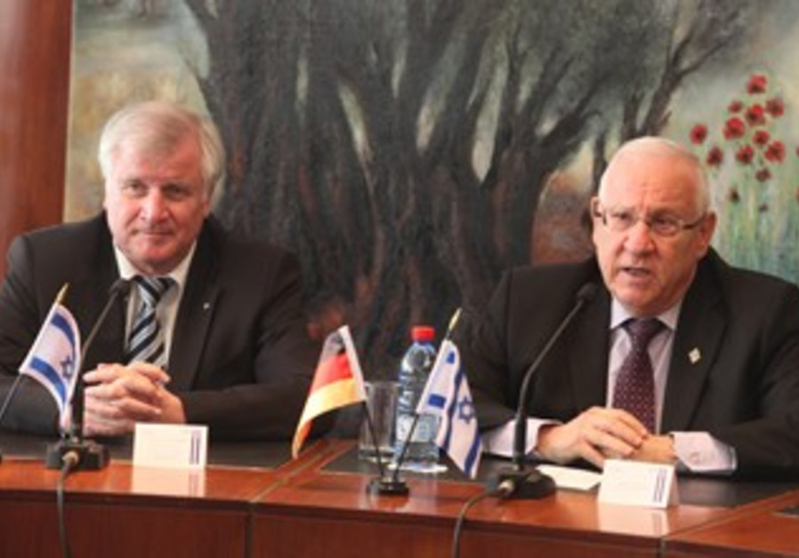 Reuven Rivlin, German counterpart Horst Seehofer