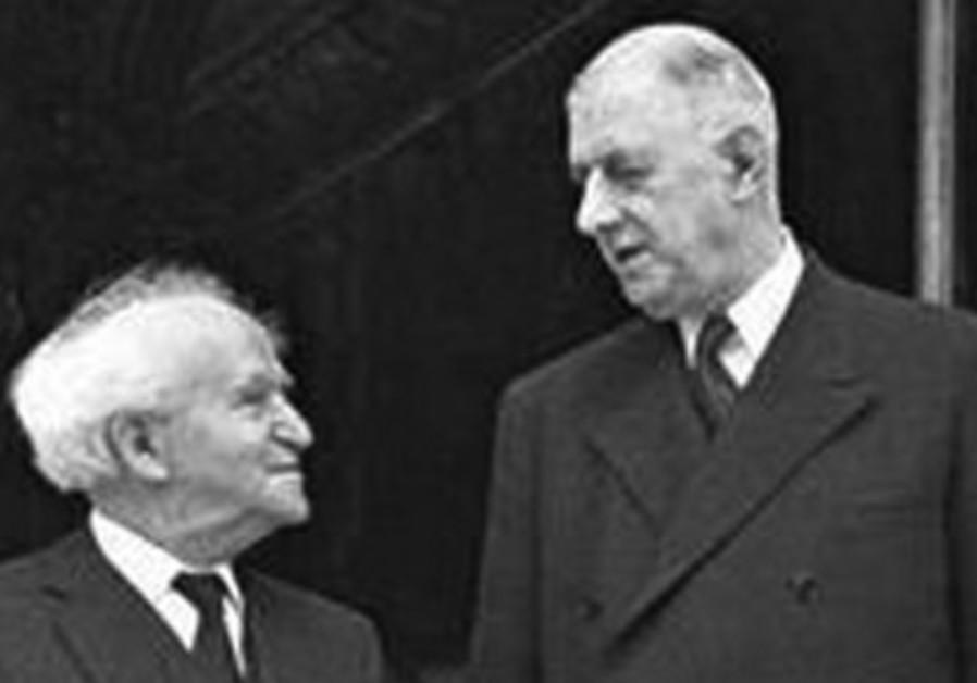 David Ben Gurion and Charles De Gaulle.