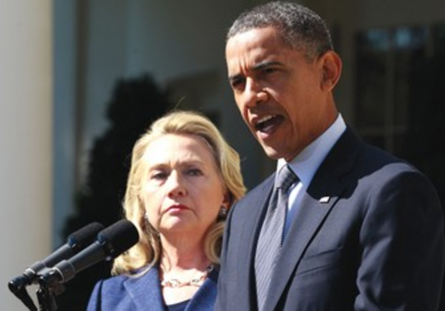 Hillary Clinton and Barack Obama.