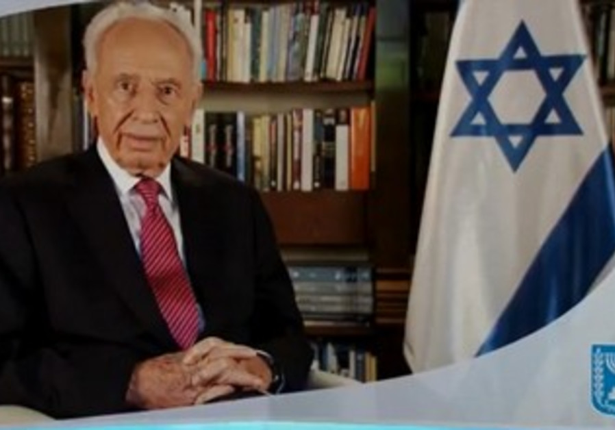 President Shimon Peres in holiday greeting