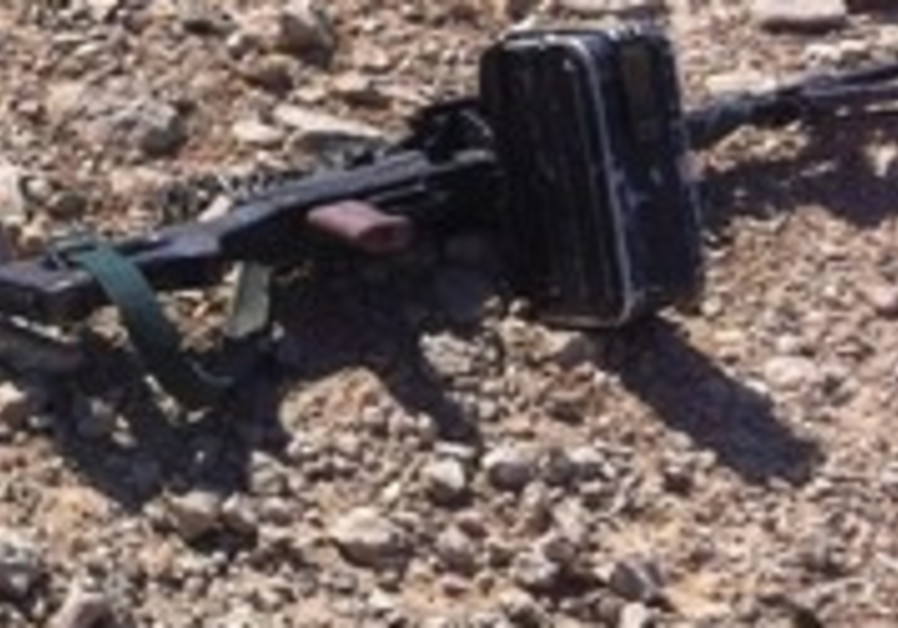 Weapon carried by terrorists infiltrating Israel
