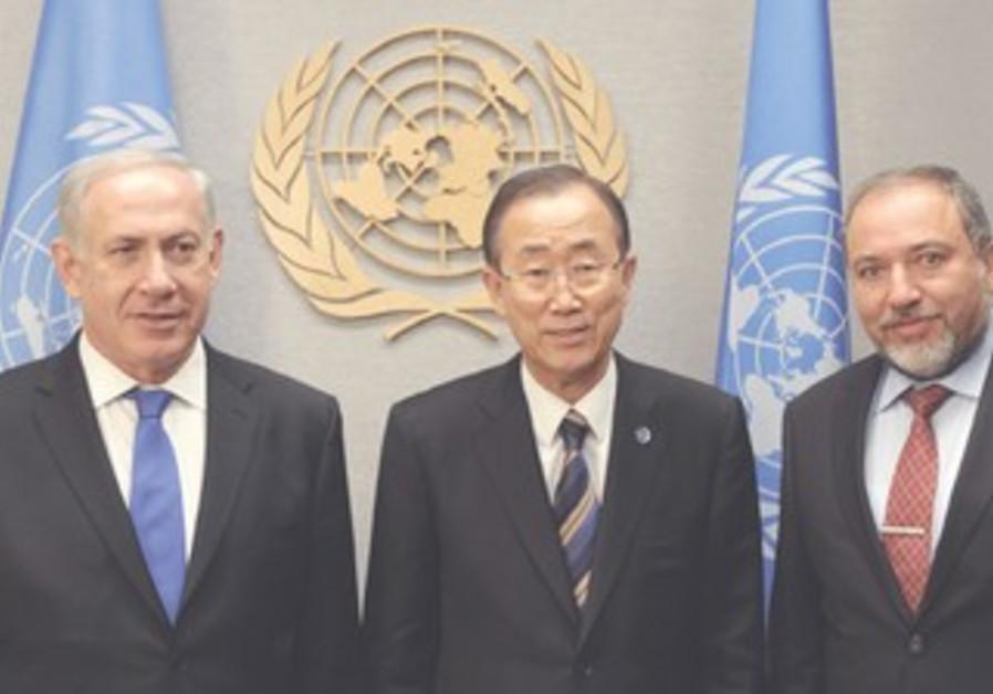 Netanyahu, Ban, Liberman
