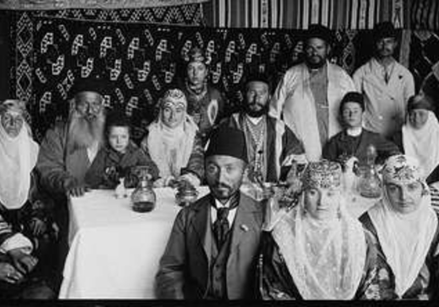 Family in their Jerusalem succa