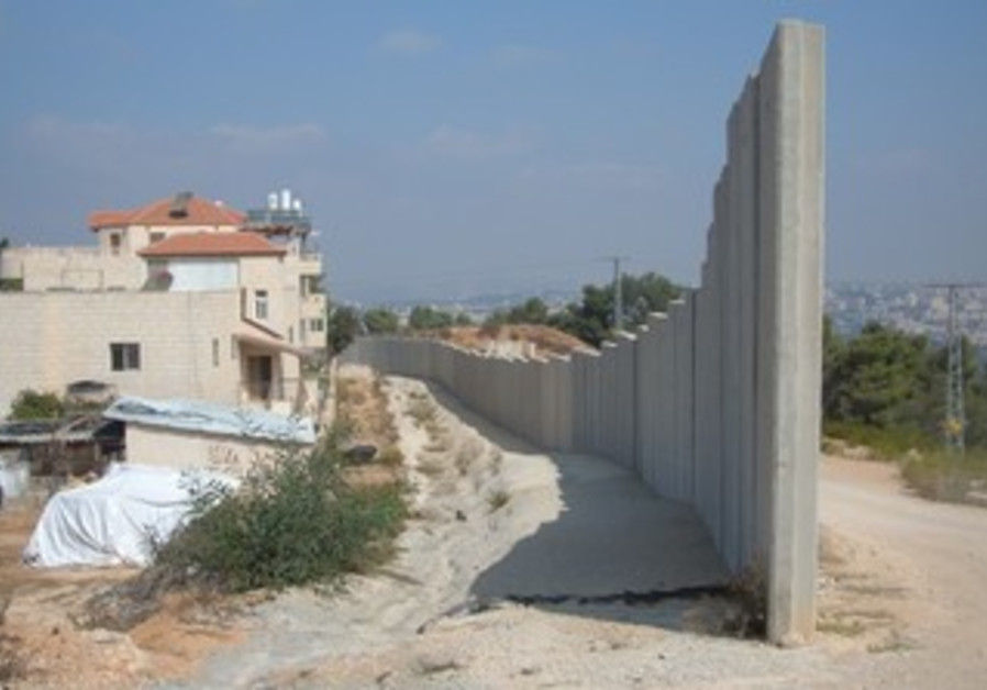 West Bank barrier in  Battir