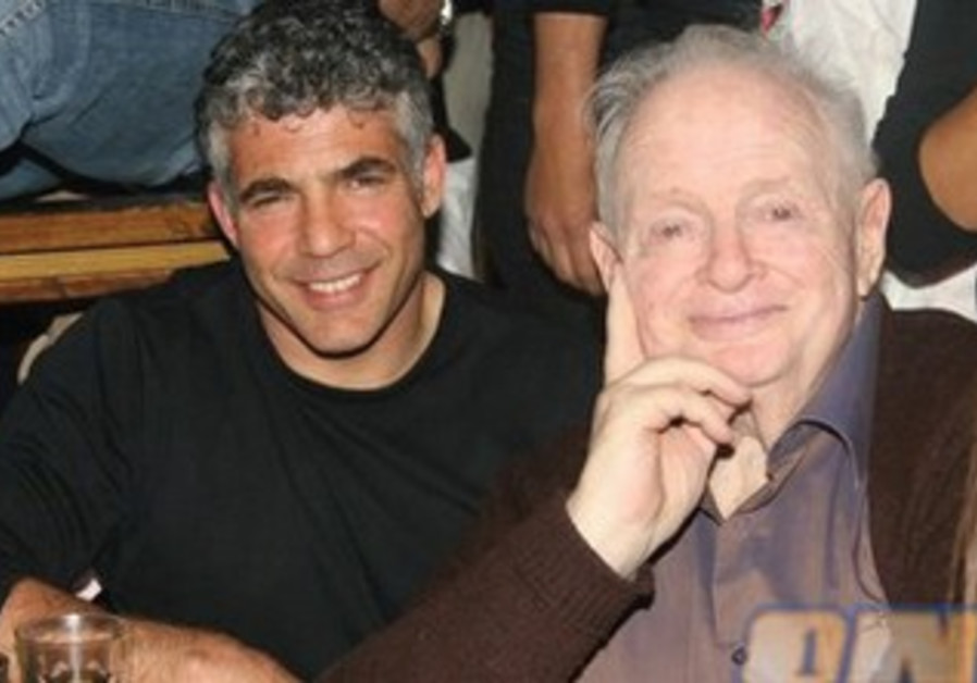 Tommy Lapid a few months before his death