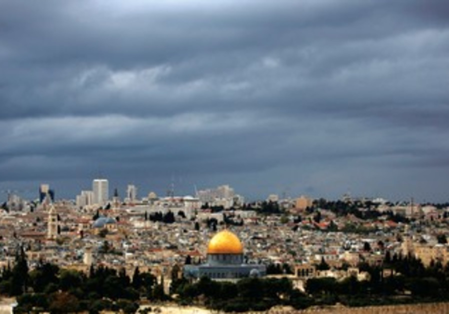 Rain clouds over the Dome of the Rock