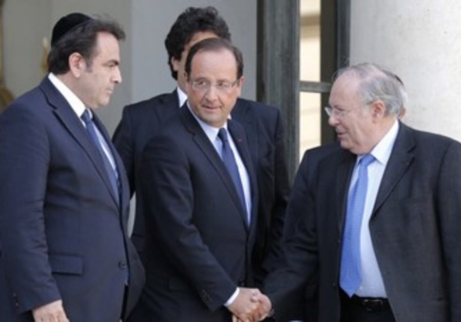 Hollande meets French Jewish leaders