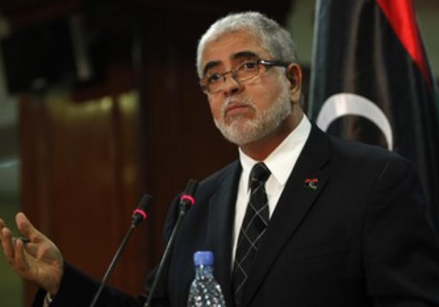 Libyan Prime Ministe Mustafa Abushagur.