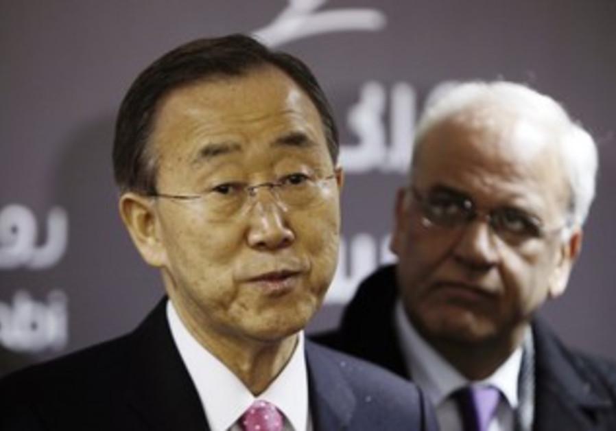 Ban Ki-moon, Saeb Erekat
