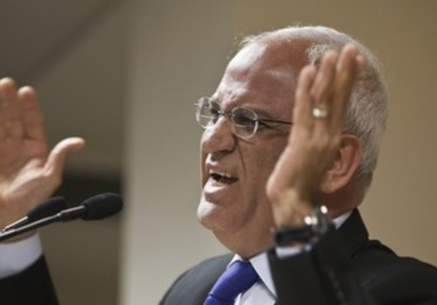 Chief PLO negotiator Erekat