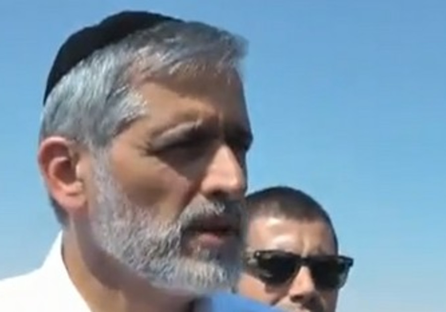 Eli Yishai tours detention centers.