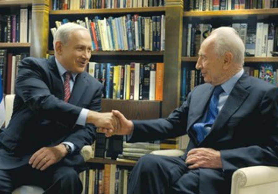 Netanyahu and Peres meet at President's Residence