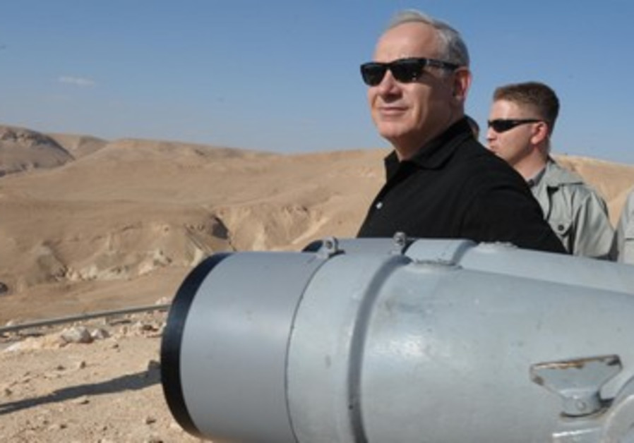 Prime Minister Binyamin Netanyahu on tour of South