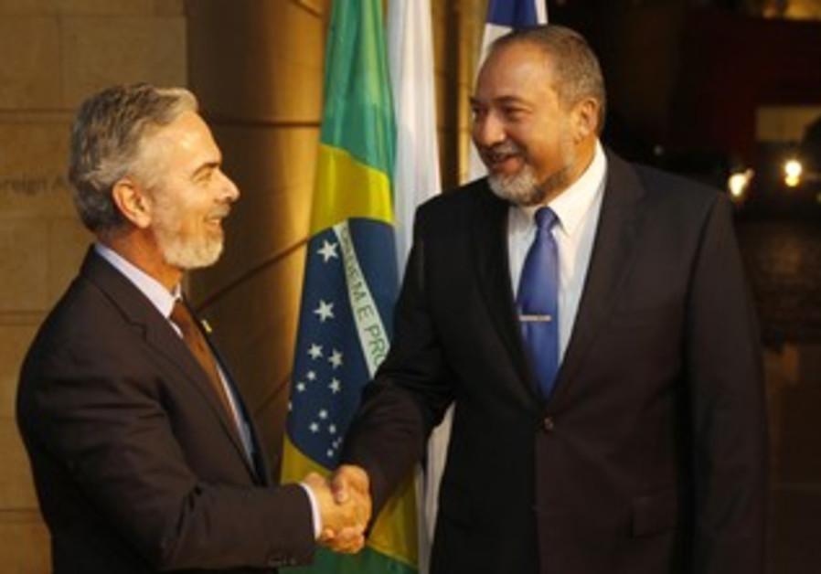 Brazil FM Patriota, Israel FM Liberman