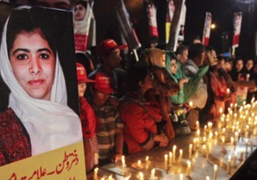 Malala Yousufzai, who was shot by the Taliban.