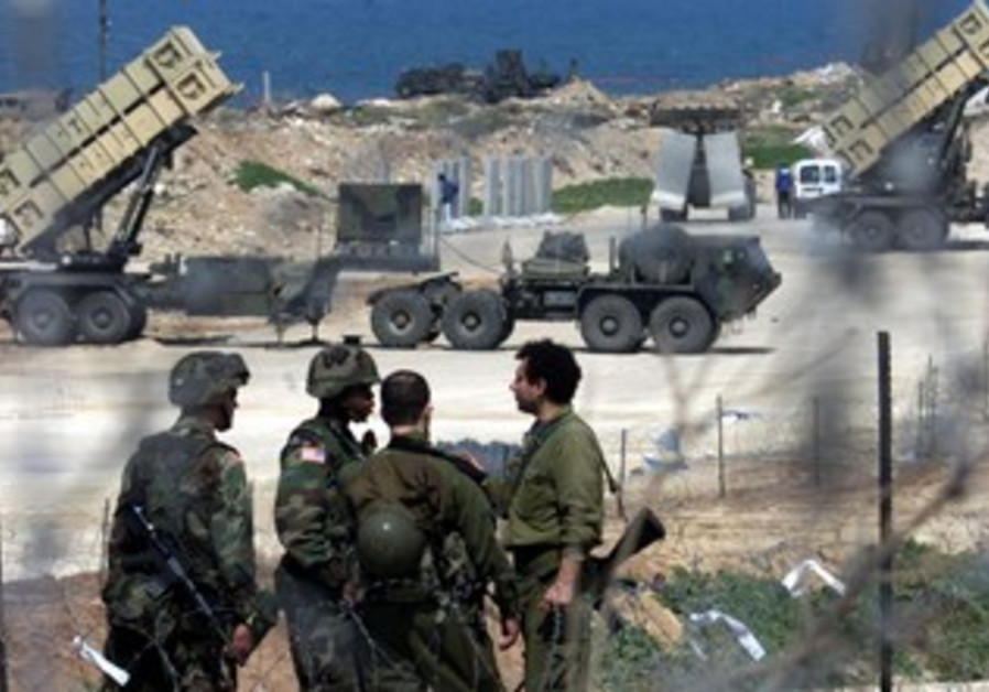 Israeli, US soldiers near Patriot missiles