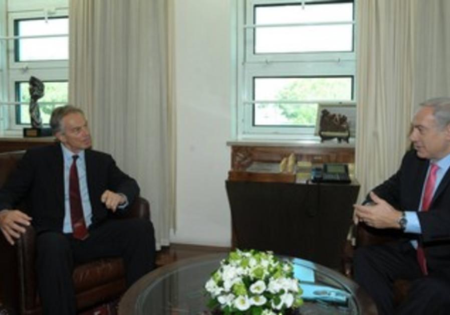 PM Netanyahu meets Quartet envoy Tony Blair