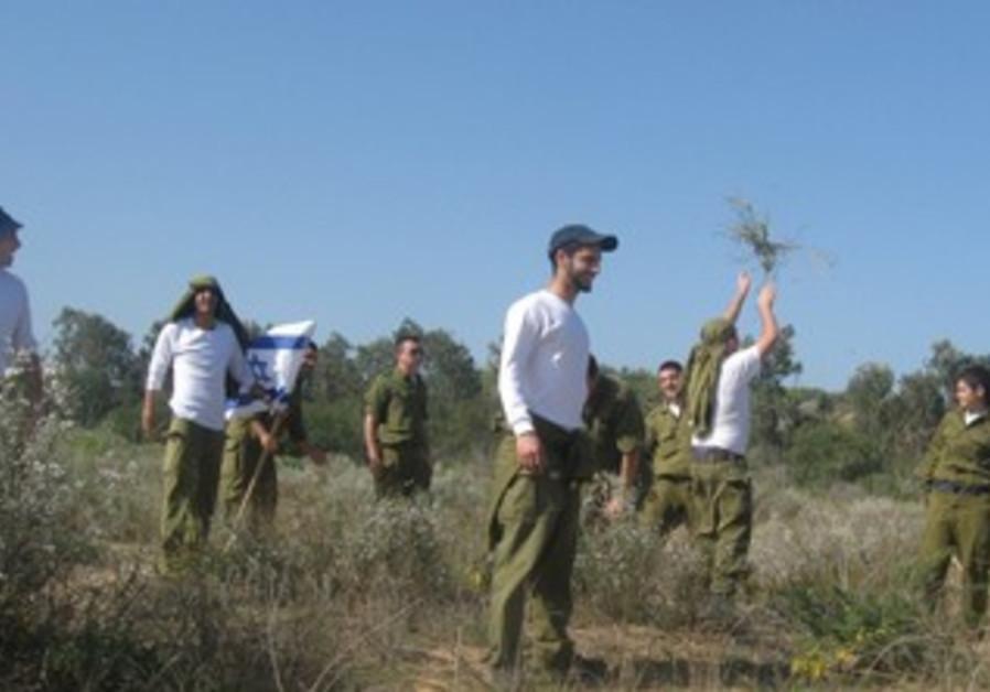 Palmachim soldiers perserving ecosystem