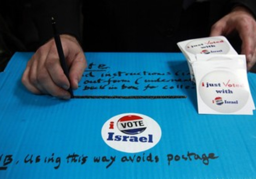 Americans in israel cast their ballots
