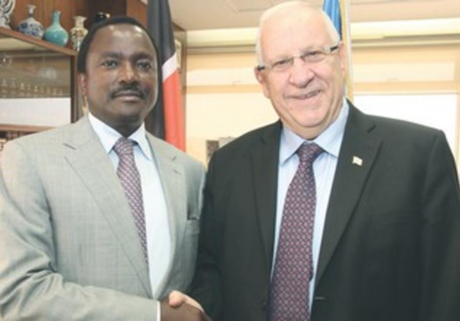 Rivlin with Kenyan VP Musyoka