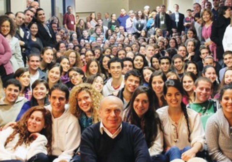 Sharansky with Jewish Agency program participants