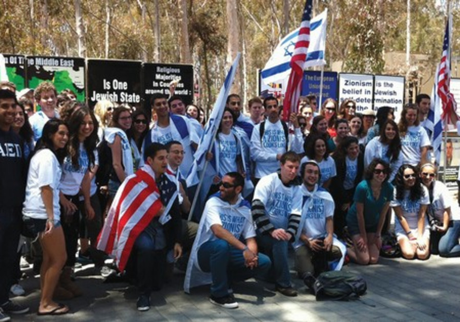 Pro-Israel students on US campus