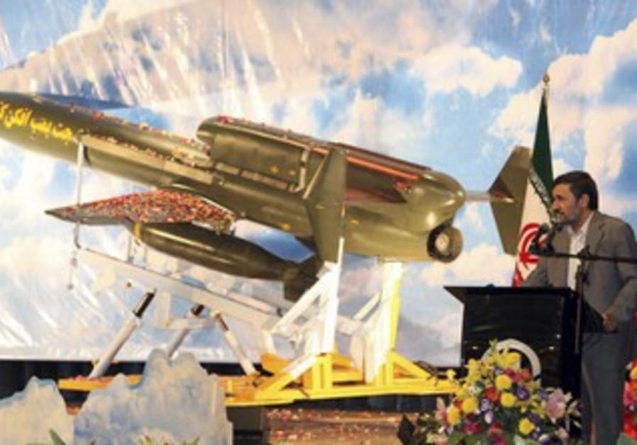 Iran President Ahmadinejad unveils long-range UAV
