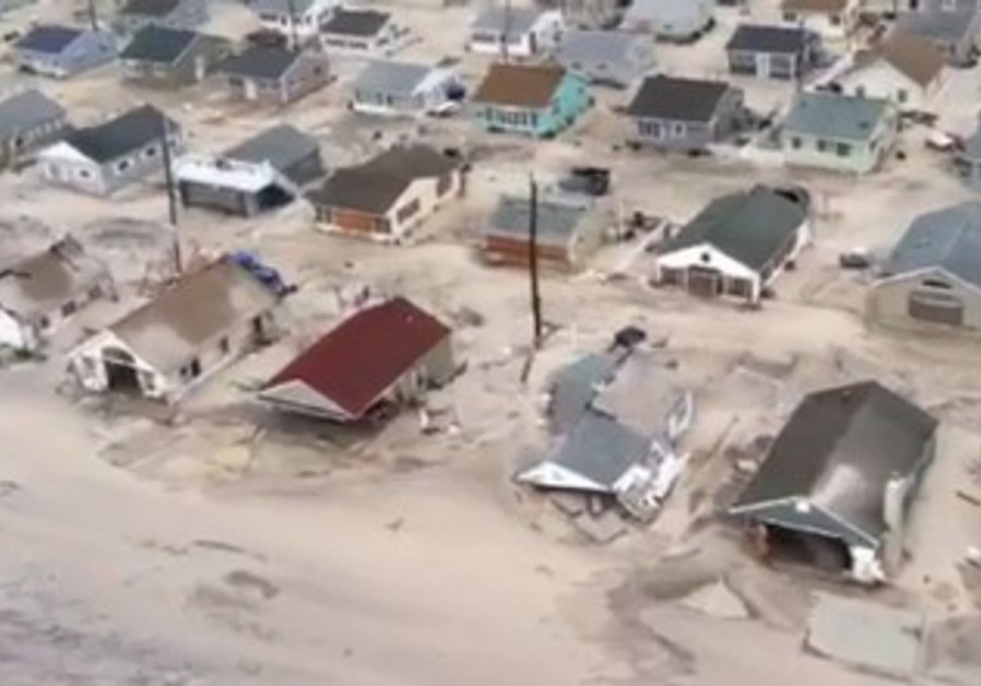 Homes destroyed by Sandy on New Jersey shore