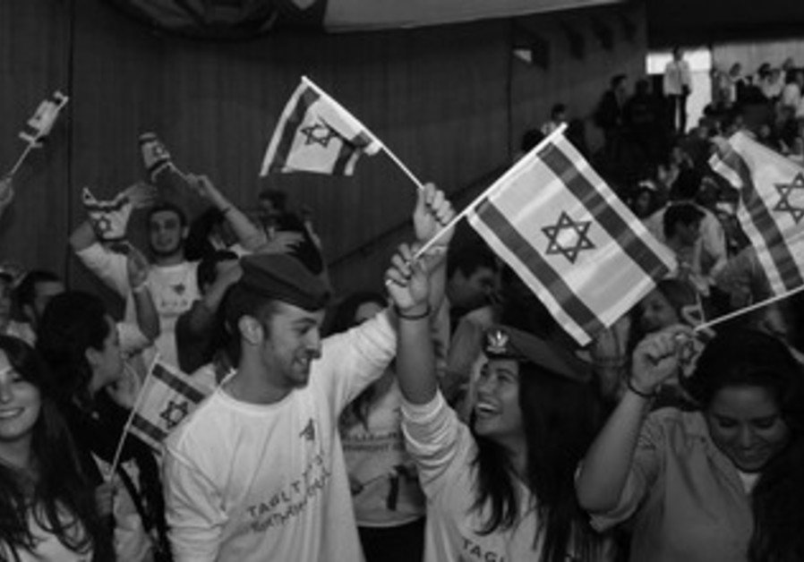 Taglit-Birthright Israel participants celebrate