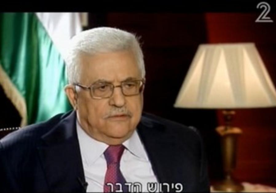PA President Mahmoud Abbas on Channel 2