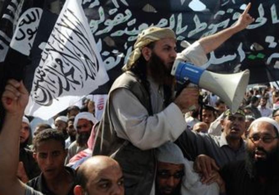 ISLAMIST Egyptian protesters