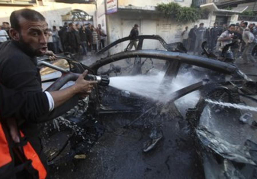 Car carrying Hamas commander Jabari hit by IDF